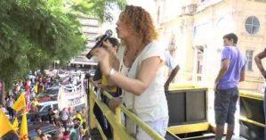 Luciana Genro no Ato Contra a Dilma, Sartori e Fortunati