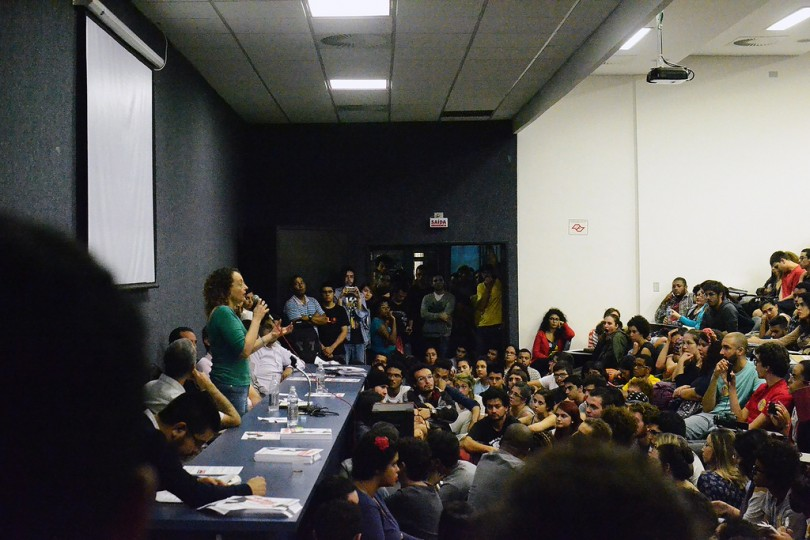 """Luciana Genro fala no Debate """"Para onde vai o Brasil?"""" ao lado de Ruy Braga e Henrique Carneiro"""