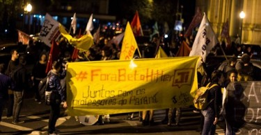 Ato em Porto Alegre em Apoio aos Professores do Paraná