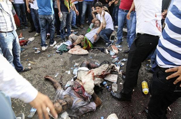 explosão no Comício do HDP 2