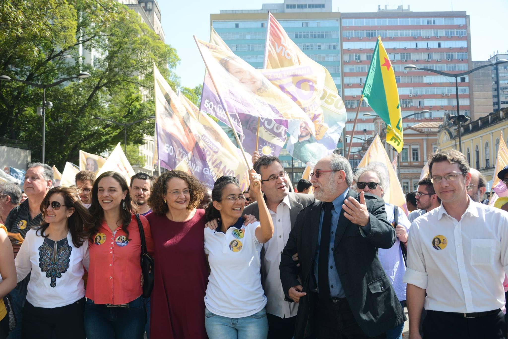 Apoio de Heloísa Helena a Luciana Genro em Porto Alegre
