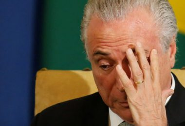 Brazil's President Michel Temer is pictured during the Brazil-Sweden Business Council at Bandeirantes Palace in Sao Paulo, Brazil, April 3, 2017. REUTERS/Nacho Doce